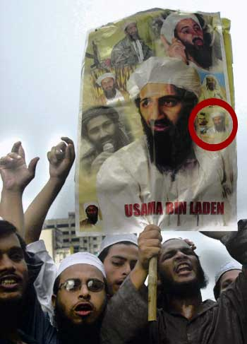 Bert at Osama Rally